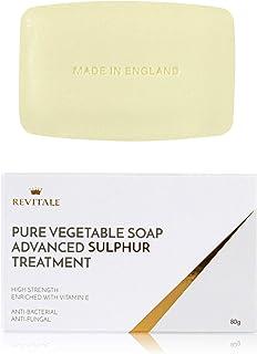 Revitale Tratamiento de jabón de azufre puro vegetal avanzado 80 g antibacteriano ayuda a combatir puntos negros manch...
