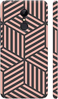 Colorpur Redmi 5 Cover - Ash And Pink Stripes Printed Back Case
