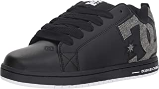 DC Men's Court Graffik Se Skate Shoe, Black/Grey, 9 D M US