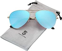 SOJOS Classic Aviator Mens Womens Sunglasses Metal Half Rim Mirrored Lens INSPIRATION