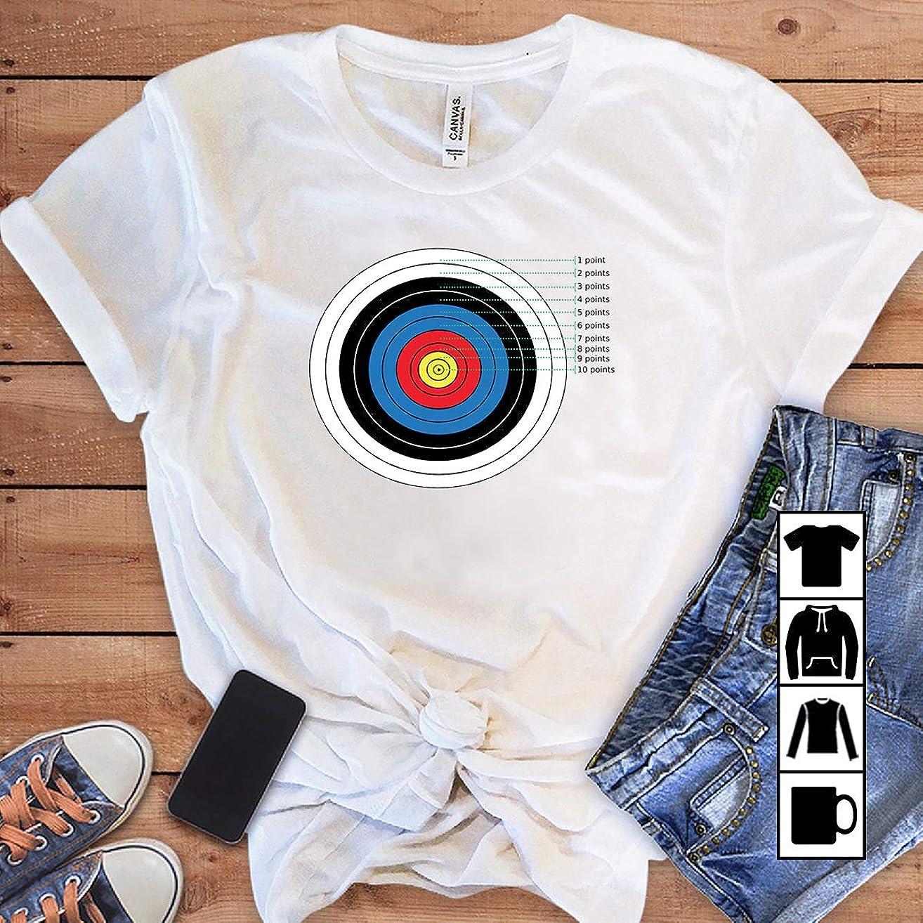 Bowman Archer Archery Target Points T Shirt Long Sleeve Sweatshirt Hoodie Yout