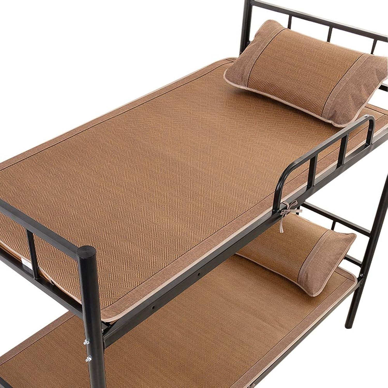 Summer Sleeping Mat Summer Sleeping Mattress Foldable Cold Pad Student Dorm Room Weave Exquisite Rattan Bamboo Mat, Width 0.8m 0.9m (color   A, Size   0.8x1.95m)