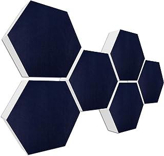 Basotect G+ geluidsisolatie < 6 akoestische elementen Ø 30 cm, 7 cm dik > Basic set 07 nachtblauw