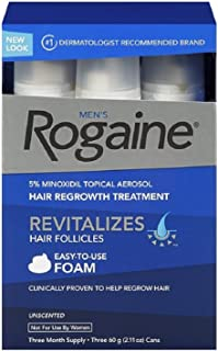 Rogaine Men's Easy-To-Use Foam 6.33 oz, 3 ea (Pack of 2)