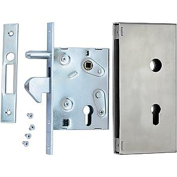 Cerradura Cerradura de gancho f de 60 Puerta Corredera Cerradura para puertas correderas (contra placa con guía Dorn ...