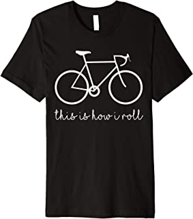FUNNY SAYING THIS IS HOW I ROLL BICYCLE,Mountain BIKE Premium T-Shirt