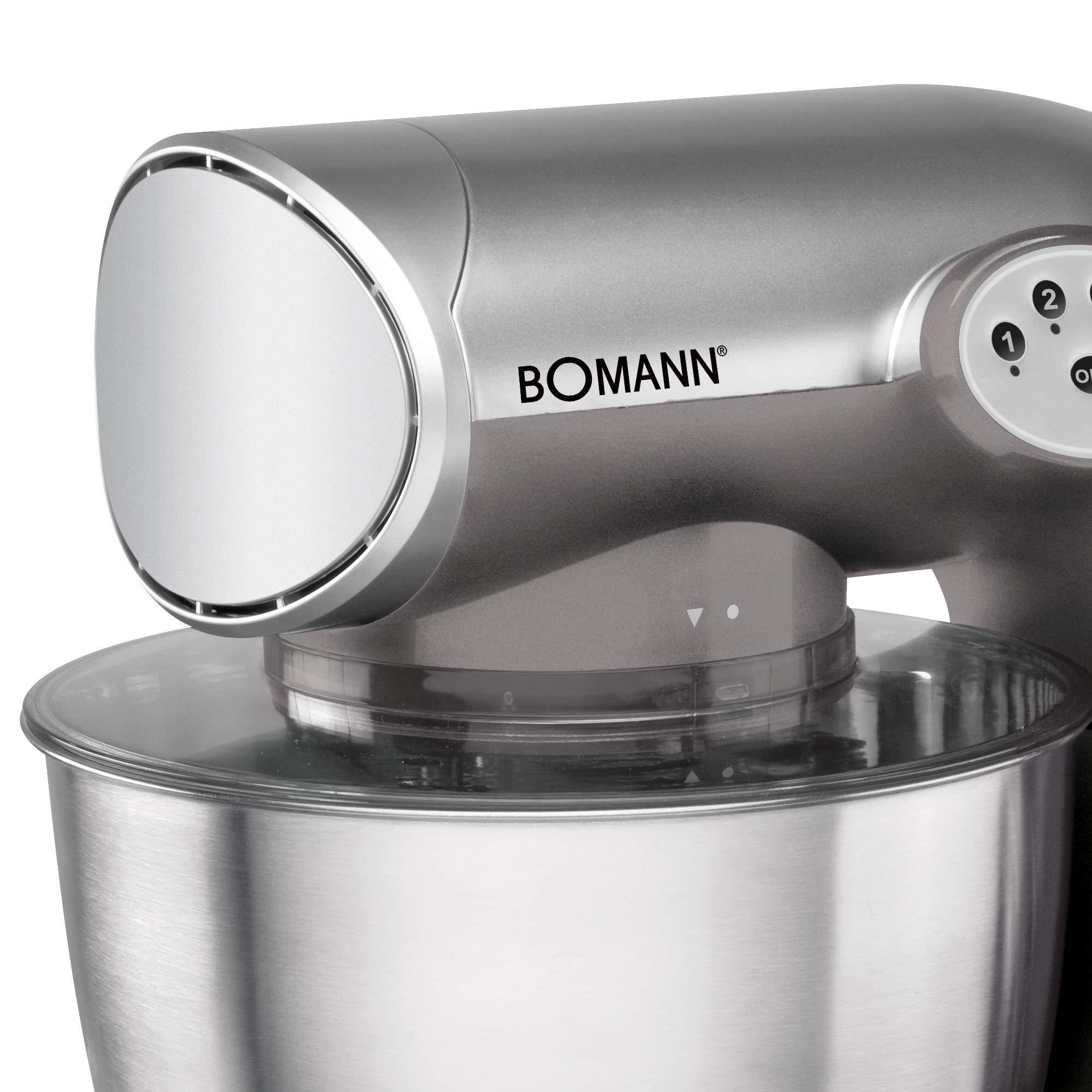 Bomann KM 305 CB - Batidora amasadora, 5.6 l, 5 velocidades, 1200 W + báscula de cocina, color titanio: Amazon.es: Hogar