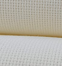 Cream KCS 19 x 28 11CT Counted Cotton Aida Cloth Cross Stitch Fabric