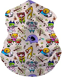 CAPINER Cool Neck Gaiter headscarves Colorful Sunflowers Printed Seamless Bandana