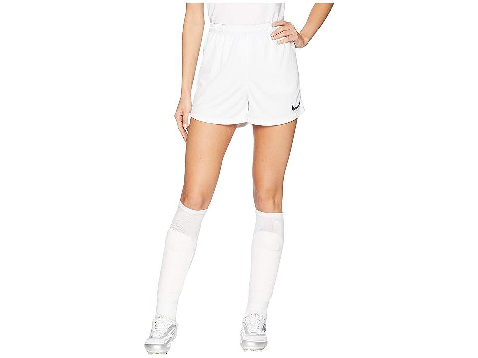 Nike Dry Academy Soccer Short (White/Black/Black) Women