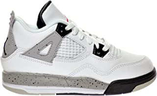 "newest 9cdb8 37a52 Jordan 4 Retro BP ""Cement"" Little Kid s Shoes White Fire Red Black"