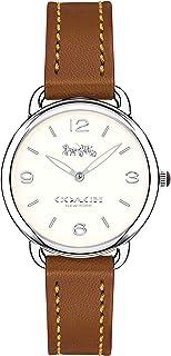 Coach Women's White Dial Leather Band Watch 14502789, Quartz, Analog