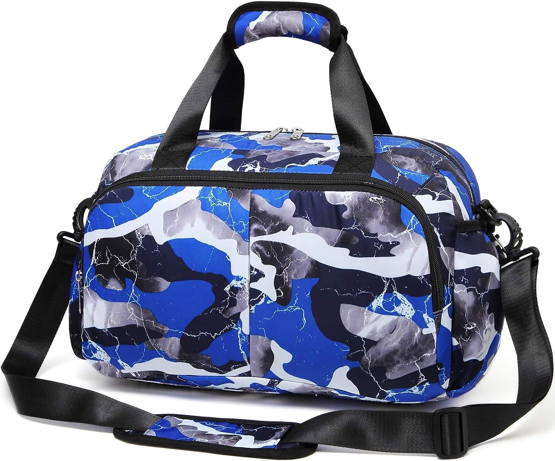 MUUQUSK Small Gym Duffel Bag for Little Boys Kids Weekend Bag Ov