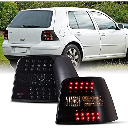 Winjet 1999-2002 Fits Volkswagen Jetta Black Smoke Led Tail Light WJ20-0048-05