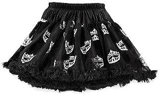 Miss America Girl Tutu Pettiskirt Skirt Black Glitter Crowns