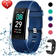 KITPIPI Fitness Tracker Activity Tracker Watch with Heart Rate Monitor, Pedometer Waterproof...