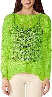 Dinamit Juniors Cotton Long Sleeve Studded Tiger Face V-Neck Sweater Lt Grey M L