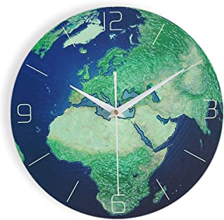 Luminous Creative Wall Clock, 12 Inch Personality Mute Non-Ticking Classic Clock, Battery Operated Round Clock Arabic Nume...