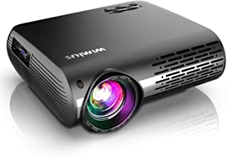 WiMiUS Newest P20 Native 1080P Projector 6800 Lux Video Projector Support 4K Dolby, ±50°Keystone Correction, Zoom Function, Compatible with PC Laptop Chromecast USB Stick Fire TV Stick Smartphones