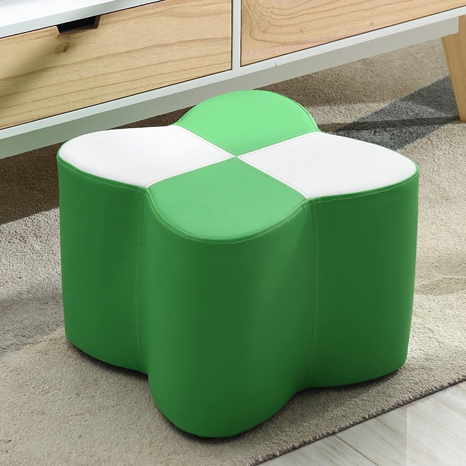 CJH Simple Modern shoes Stool Leather Stool shoes Bench Pier Foyer Sofa Stool shoes Stool Stool Green