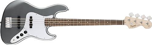 Squier by Fender Affinity Jazz Beginner Electric Bass Guitar - Rosewood Fingerboard, Slick Silver