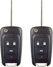 ECCPP Replacement fits for Uncut Keyless Entry Remote Key Fob 2010-2016 Chevrolet Camaro/Chevrolet Cruze/Chevrolet Equinox/Chevrolet Malibu OHT01060512 (Pack of 2)