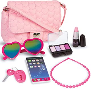PixieCrush Pretend Play Purse & Makeup for Girls - Fun Little Girl Cosmetics Toys Set with Pretend Makeup, Eyeshadow, Cell...
