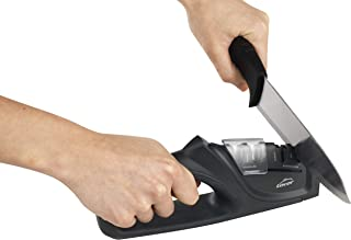 Lacor 39266 Afilador de Cuchillos Dual, 21'5x4'5x9 cm, Plástico, Negro