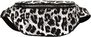 Sleeper #501New Fashion Neutral Outdoor Zipper Leopard Print Messenger Bag Sport Chest Bag Waist Bag Unique,White