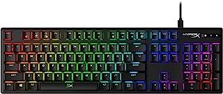 HyperX HX-KB6RDX-US Alloy Origins RGB Mechanical Gaming Keyboard (Red Switch)- US Layout, Full Size (104 Keys), Black