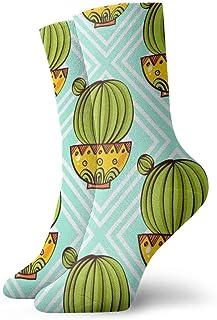 Calcetines deportivos para hombre y mujer, calcetines sin costuras, patrones sin fisuras de poliéster, calcetines de 30 cm