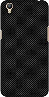 AMZER Slim Fit Handcrafted Designer Printed Hard Shell Case Back Cover for Oppo A37 - Carbon Black with Texture