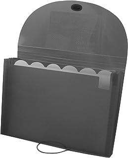 C-Line Biodegradable 7-Pocket Expanding File, Letter Size, 1 Expanding File, Smoke (48301)