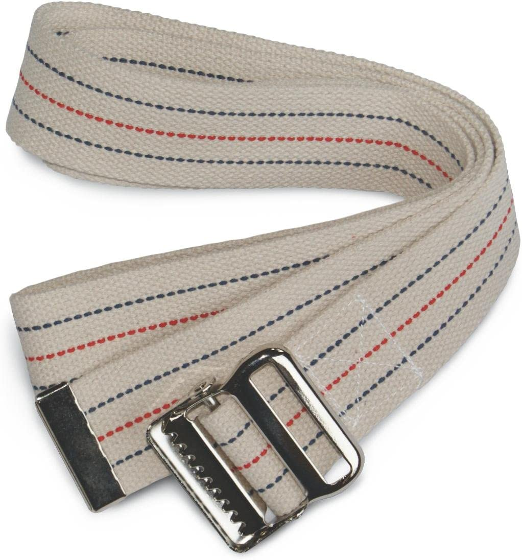 Easy-to-use Medline MDT828203 Sale Special Price Cotton Gait Transfer Buckle Belts Metal with