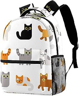 حقيبة ظهر خفيفة الوزن حقيبة مدرسية للكلية حقيبة كمبيوتر محمول Daypack للبالغين والأطفال حقيبة ظهر كاجوال للقطط الكرتونية