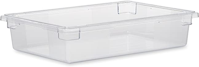 Rubbermaid Commercial Products-Food Storage Box/Tote for Restaurant/Kitchen/Cafeteria, 8.5 Gallon, Clear (FG330800CLR)
