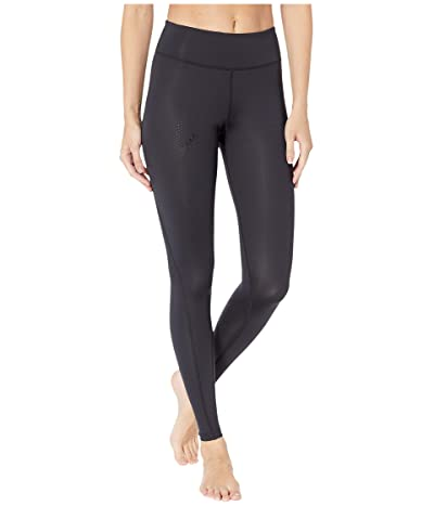 2XU Mid-Rise Compression Tights (Black/Dotted Black Logo) Women