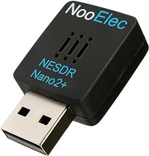 NESDR Nano 2+ Tiny Black RTL-SDR USB-set (RTL2832U + R820T2) met Ultra-Low Phase Noise 0.5PPM TCXO & MCX-antenne. Door sof...