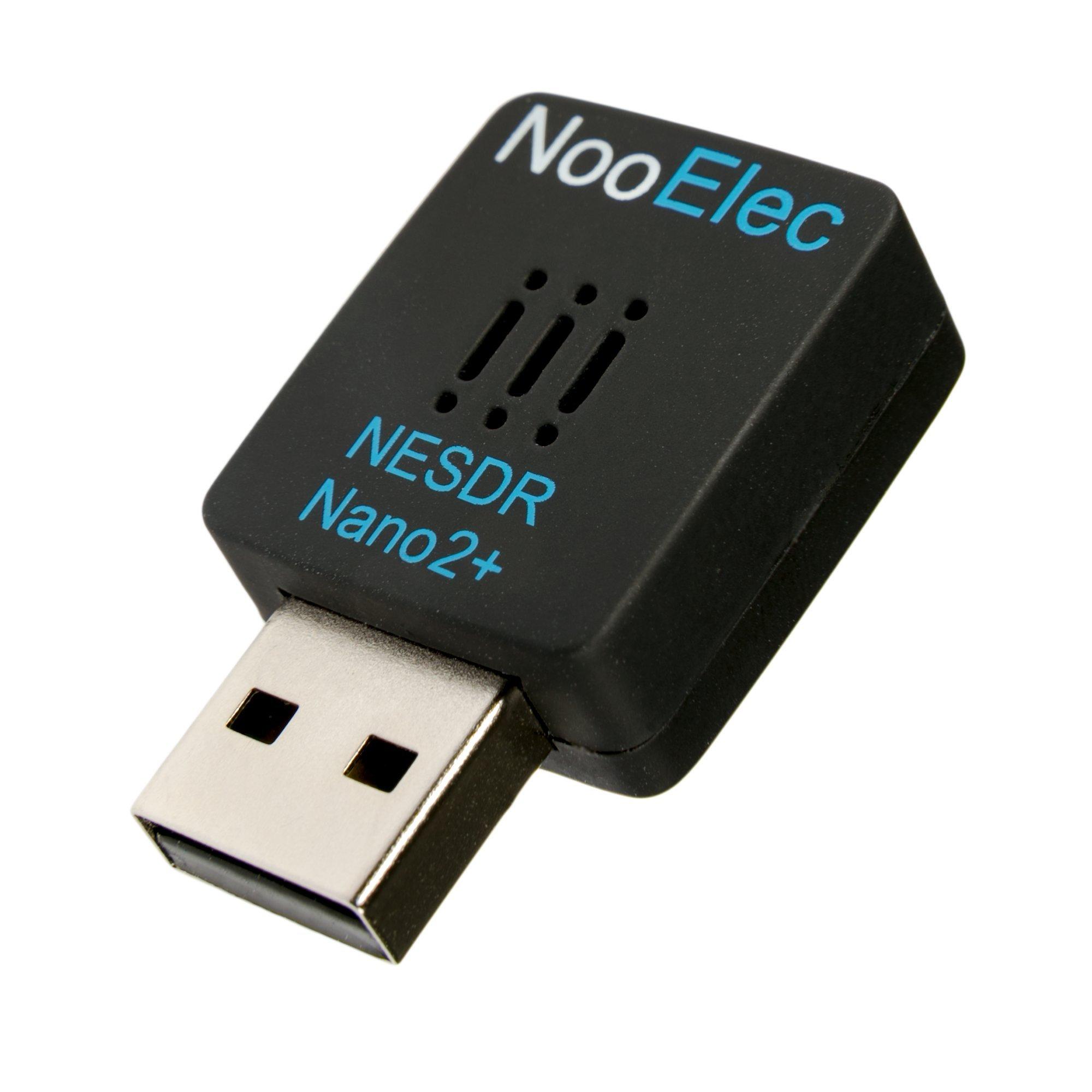 NESDR Nano 2+ Tiny Black RTL-SDR USB Set (RTL2832U + R820T2) con ruido de fase ultrabaja 0.5PPM TCXO y antena MCX. Radio definida por software, compatible con DVB-T y ADS-B, ESD Safe: