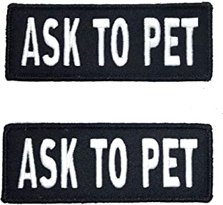 Leash Boss Service Dog Vest Patches - Embroidered 2 Pack - Hook and Loop Both Sides - 3 Sizes