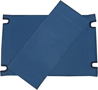Zew Replacement UV Treated Color Durable Canvas for Bamboo Folding Directors Chairs, Navy