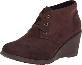 BOBS Women's Tumble Weed-Urban Rugged. Suede Wedge Bootie W Memory Foam Ankle Boot