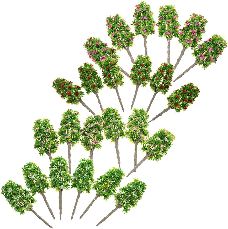 MagiDeal 24 Stück 4 Typen 1  64 Landschaft Pflanzen Landschaftsmodell Bäume Blaumen Modell aus Kunststoff für Dekoration & Sammlerstück B073ZDNBQR Neuer Stil      Reichhaltiges Design