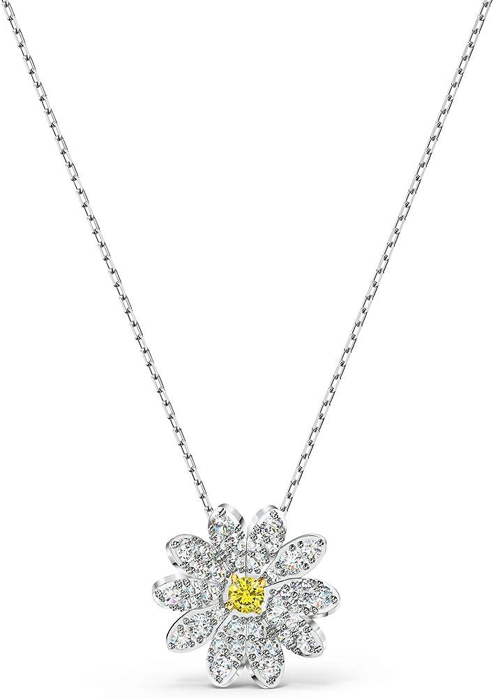 Swarovski eternal flower collana con pendente per donna placcata rodio 5512662