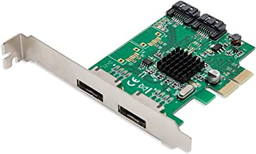 IO Crest SI-PEX40058 2 Port SATA III 2 Port eSATA III PCIe 2.0 x2 HyperDuo Controller Card Green