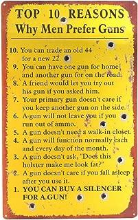TG,LLC Funny Sign: Top 10 Reasons Why Men Prefer Guns