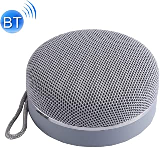 Portable Bluetooth Speaker with Hand Rope Built-in Microphone Support TF Card, USB Output, FM, Speakerphone,Gray