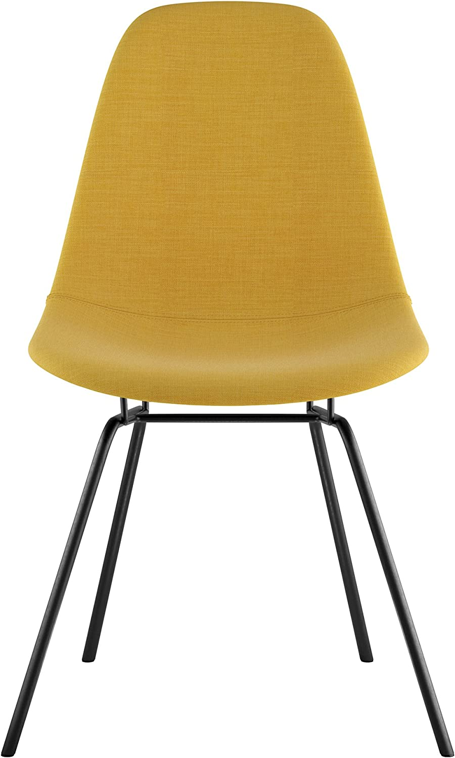 NyeKoncept 331003CL3 Mid Century Classroom Side Chair, Papaya Yellow