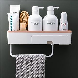 CGLOVEWYL Support Mural de Salle de Bain Porte-Serviettes avec tiroir Porte-shampooing étagère de Rangement adhésif Organi...