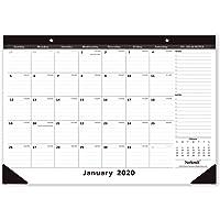 Nekmit 2020 Monthly Desk Pad Calendar Ruled Blocks, 16-3/4 x 11-4/5 Inches